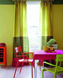 Pink Armchair Design Ideas Casual Dining Room Decorating Ideas With Hot Pink Chair And Green