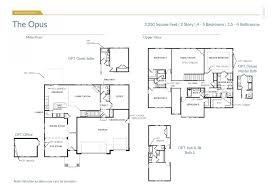 5 Bedroom Floor Plans 2 Story The Opus Kansas City Home Builders