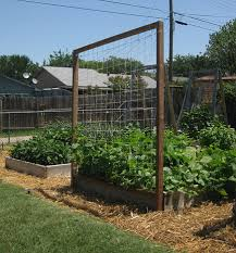 diy raised bed trellis vegetable gardener