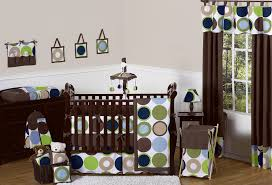 Blue And Brown Crib Bedding by Modern Polka Dot Circle Geometric Baby Crib Bedding Set 9pc Blue