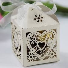 favor boxes for wedding 10pcs heart bird cage small laser gift candy boxes wedding