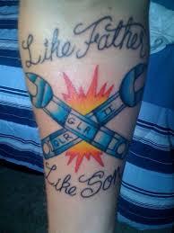 father like son tattoo