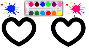 glitter heart coloring pages how to draw coloring pages youtube