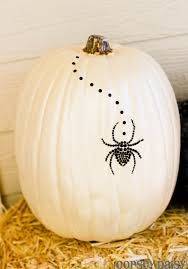 painted pumpkin with spider jewel sticker michael u0027s halloween