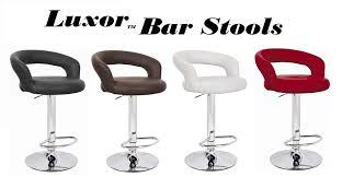 Bar Stool Sets Of 2 Luxor Faux Leather Adjustable Bar Stool Set Of 2