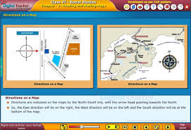 Maps Direction Ssc Class6 Social U1 Reading And Making Maps Digital Teacher K12