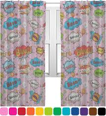 Pow Shower Curtain by Woman Superhero Sheer Curtains Personalized Youcustomizeit