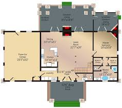 log cabin retreat with catwalk 13322ww architectural designs