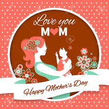 Mother Day Card by Happy Mother U0027s Day Card With Beautiful Silhouette Of Mother
