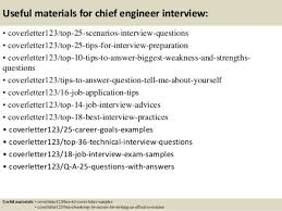 chief engineer cover letter