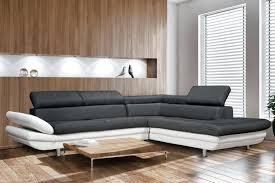 canapé simili cuir blanc pas cher canape angle pas cher actonnant canapac d convertible 5 places