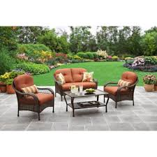 Mainstays Searcy Lane 6 Piece Padded Folding Patio Dining Set - patio u0026 garden walmart walmart outdoor patio furniture in patio
