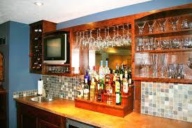 Wall Bar Cabinet Custom Built Home Bar Ideas In Ohio