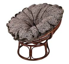 decorating microsuede papasan chair cushion with rattan stand for