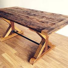 reclaimed wood dining table nyc reclaimed wood furniture hemlock harvest table with trestle x base