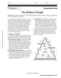 Health And Wellness Worksheets For Personal Health And Wellness Lesson Plans Worksheets