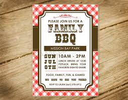 Reunion Invitation Cards Family Bbq Picnic Family Reunion Western Themed Invitation