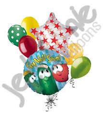 get well soon baloons veggietales get well soon balloon bouquet jeckaroonie balloons
