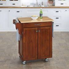 cherry kitchen island cart home styles wood top kitchen island cart cherry ebay
