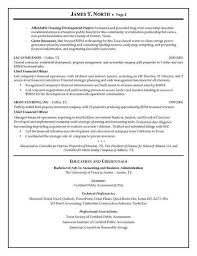 financial planning consultant resume financial planning