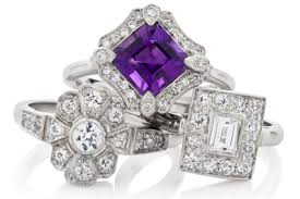 art deco cluster engagement rings london victorian ring
