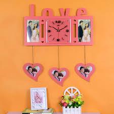 Personalized Wedding Clocks Love Creative Fashion Photo Frame Wall Clock Personalized Wedding
