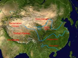 rivers in china map physical map of china china mountains plateaus rivers and deserts