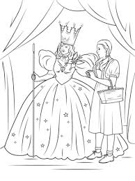 dorothy with glinda the good witch of the north coloring page