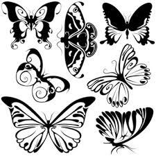abstract butterflies 2 black illustration symbols