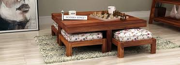 Wooden Living Room Table Buy Living Room Furniture India Starts 1 499 Woodenstreet