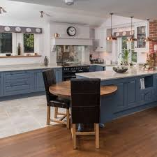 gray kitchen cabinets with black appliances 75 beautiful kitchen with blue cabinets and black appliances