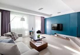 Purple Livingroom by Vibrant Blue And Purple Apartment Decor