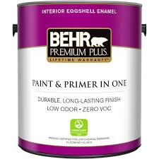 behr premium plus 1 gal m290 5 english custard eggshell enamel