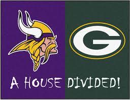 nfl minnesota vikings green bay packers house divided rugs 34x45