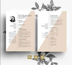 Resume Creative Template Professional Cv Template Business Card 2 Page Cover Letter