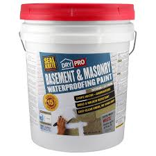 Seal Concrete Walls Basements Basement Waterproofing Paint Drylok