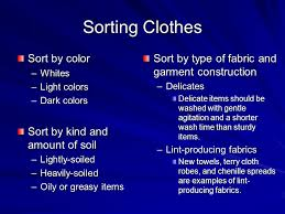 how to wash light colored clothes chapter 18 caring for clothes ppt download