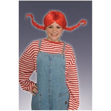 raggedy anne ann childs red braided wig costume accessory