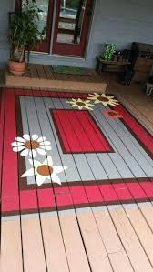 painting concrete porch floor ideas diy painted rug on porch floor