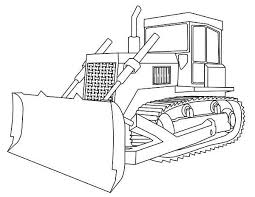 construction vehicles coloring pages bulldozer printable of