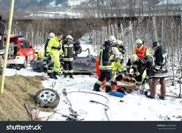 Italy At High Speed By by Bolzano Italy January 18 2016 Firefighters Stock Photo 363704099