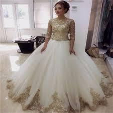 gold wedding dress white and gold wedding dress naf dresses