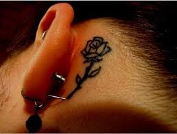 25 unique rose tattoo behind ear ideas on pinterest watercolor