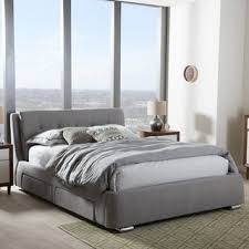 Alsa Platform Bed - acme furniture brancaster brown leather and aluminum queen size