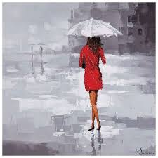 red rain oil painting square canvas dcg stores