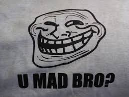 U Mad Bro Meme - free troll face meme u mad bro t shirt adult medium other