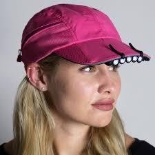 running hat with lights lightguide clip on 5 led hat light safety running lights gone