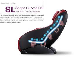amazon com curved long rail shiatsu massage chair w wireless