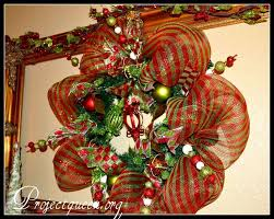 Decorating Christmas Wreath Ribbon by 36 Best Mesh Wreath Ideas Images On Pinterest Deco Mesh Wreaths