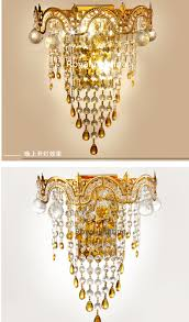 Crystal Wall Sconces by Gold Crystal Wall Lamps Vogue Crystal Wall Sconce Vintage Chinese